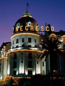 Hotel Negresco at Night, Nice, Provence-Alpes-Cote d'Azur, France by David Tomlinson