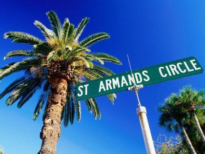 Sign in St. Arnaud's Key, Sarasota, Florida