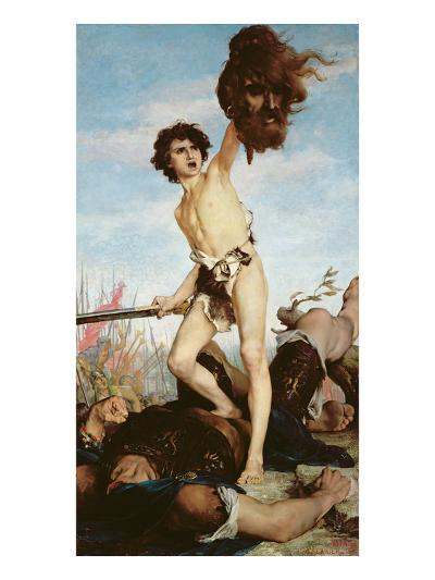 David Victorious over Goliath, 1876-Gabriel-Joseph-Marie-Augustin Ferrier-Giclee Print