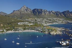 Aerial of Clifton Beach and Camps Bay, Cape Town, South Africa by David Wall