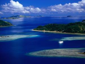 Aerial View of Island, Fiji by David Wall