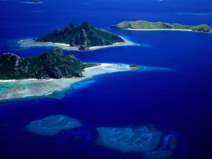 Aerial View of Islands, Fiji by David Wall