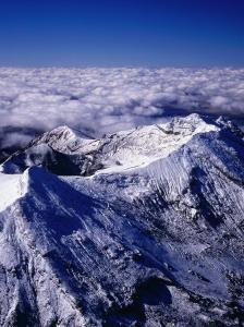 Aerial View of Summit of Mount Ruapehu, Tongariro National Park, New Zealand by David Wall