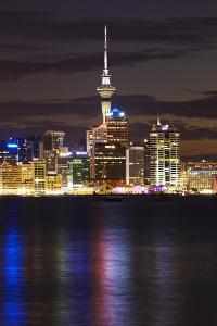 Auckland Cbd, Skytower, and Waitemata Harbour, North Island, New Zealand by David Wall