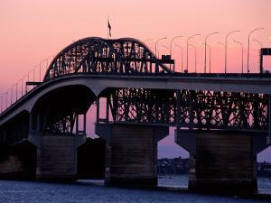 Auckland Harbour Bridge and Waitemata Harbour at Dusk, New Zealand by David Wall