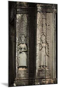 Bas-Relief of Apsara, Angkor World Heritage Site by David Wall