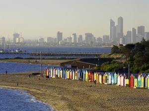 Bathing Boxes, Middle Brighton Beach, Melbourne, Victoria, Australia by David Wall
