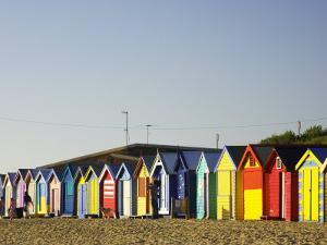 Bathing Boxes, Middle Brighton Beach, Port Phillip Bay, Melbourne, Victoria, Australia by David Wall