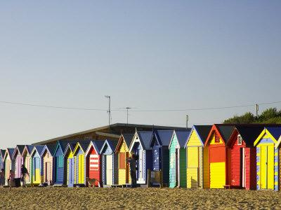 Bathing Boxes, Middle Brighton Beach, Port Phillip Bay, Melbourne, Victoria, Australia