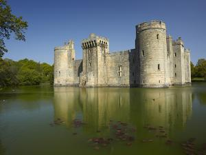 Bodiam Castle (1385), Reflected in Moat, East Sussex, England by David Wall