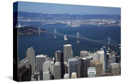 California, Aerial of Downtown San Francisco and Bridges