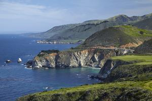 California Central Coast, Big Sur, Pacific Coast Highway, Viewed from Hurricane Point by David Wall