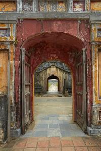 Corridor in the Forbidden Purple City, Imperial City, Hue, Vietnam by David Wall