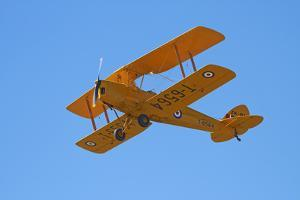 De Havilland Dh 82A Tiger Moth Biplane, Warbirds over Wanaka, Airshow, New Zealand by David Wall