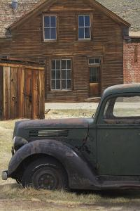 Derelict Vintage Truck and Old Buildings, Bodie Ghost Town, California by David Wall