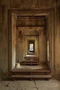 Doorways, Inner Gallery, Khmer Temple, Angkor World Heritage Site, Siem Reap, Cambodia by David Wall