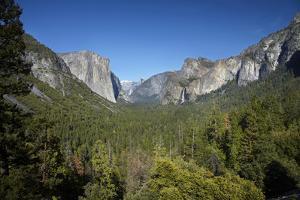 El Capitan, Half Dome, and Bridalveil Fall, Yosemite NP, California by David Wall
