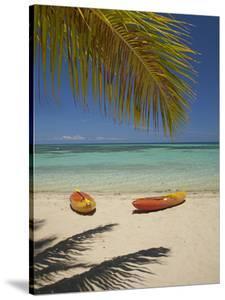 Kayaks on the Beach, Plantation Island Resort, Malolo Lailai Island, Mamanuca Islands, Fiji by David Wall