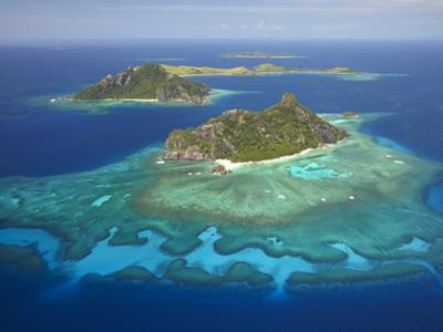 Monuriki Island and Coral Reef, Mamanuca Islands, Fiji by David Wall