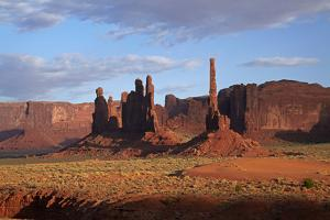 Navajo Nation, Monument Valley, Yei Bi Chei and Totem Pole Rock Column by David Wall