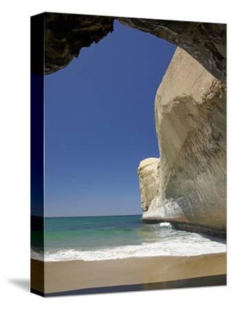 Sea Cave, Beach and Cliffs, Tunnel Beach, Dunedin, South Island, New Zealand