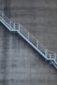 Stairs on Old Silo at Silo Park, Wynyard Quarter, Auckland, North Island, New Zealand by David Wall