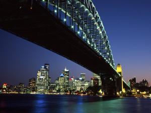 Sydney Harbor Bridge and CBD at Dusk, Sydney, Australia by David Wall