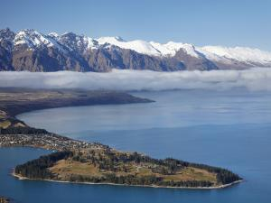 The Remarkables, Lake Wakatipu, and Queenstown, South Island, New Zealand by David Wall