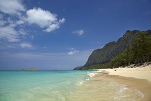USA, Hawaii, Oahu, Waimanalo Beach by David Wall