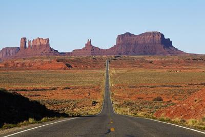 Utah, Navajo Nation, U.S. Route 163 Heading Towards Monument Valley
