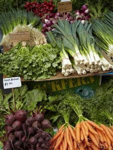 Vegetable Stall at Saturday Market, Salamanca Place, Hobart, Tasmania, Australia by David Wall