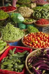 Vegetable stall, Dong Ba Market, Hue, Thua Thien-Hue Province, Vietnam by David Wall
