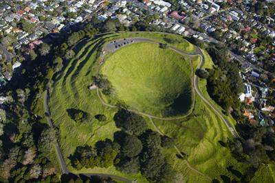 Volcanic Crater, Mt. Eden, Auckland, North Island, New Zealand by David Wall