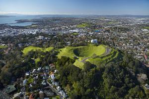 Volcanic Crater, Mt. Eden Domain, Auckland, North Island, New Zealand by David Wall