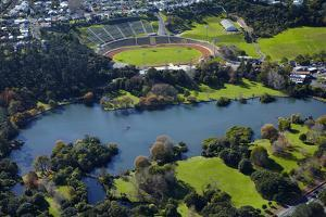 Western Springs, and Western Springs Stadium, Auckland, North Island, New Zealand by David Wall