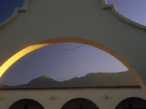 Arch and Mountain at Dawn, Ojai, CA by David Wasserman