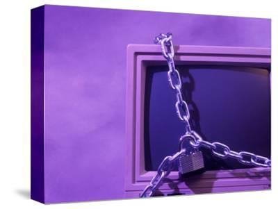 Padlock and Chain on Computer