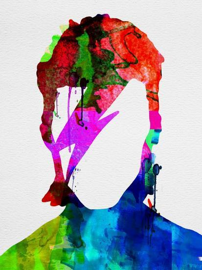 David Watercolor Portrait-Lora Feldman-Premium Giclee Print