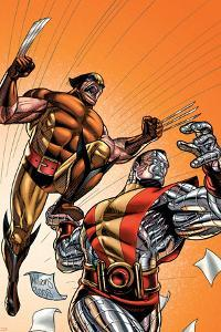 Wolverine First Class No.21 Cover: Colossus and Wolverine by David Williams