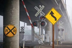 Railroad Crossing by David Winston