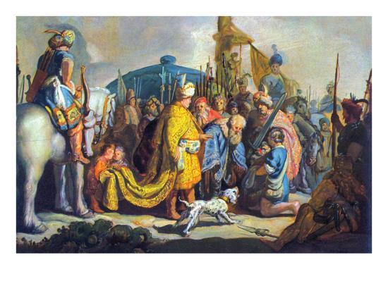 David with Goliath before Saul-Rembrandt van Rijn-Art Print