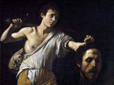 David with the Head of Goliath by Caravaggio--Photographic Print