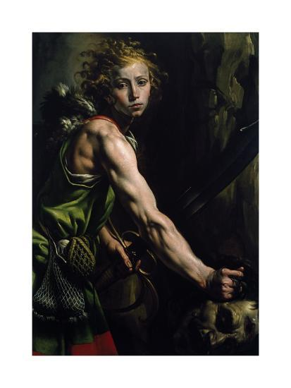 David with the Head of Goliath-Tanzio da Varallo-Giclee Print
