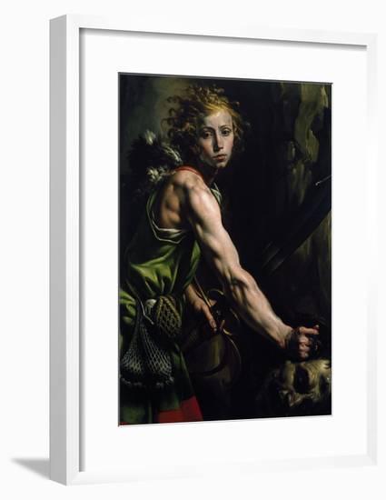 David with the Head of Goliath-Tanzio da Varallo-Framed Giclee Print