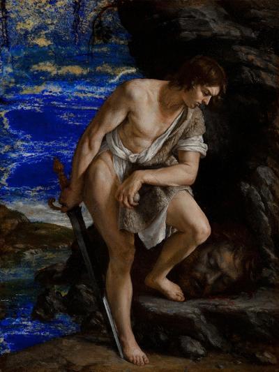 David with the Head of Goliath-Orazio Gentileschi-Giclee Print