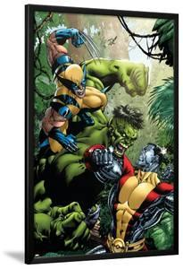 X-Men Vs Hulk No.1 Cover: Wolverine, Colossus and Hulk by David Yardin