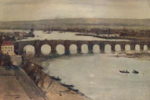 'Berwick Bridge', c1912, (c1915) by David Young Cameron