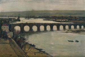 'Berwick Bridge', c1912 by David Young Cameron