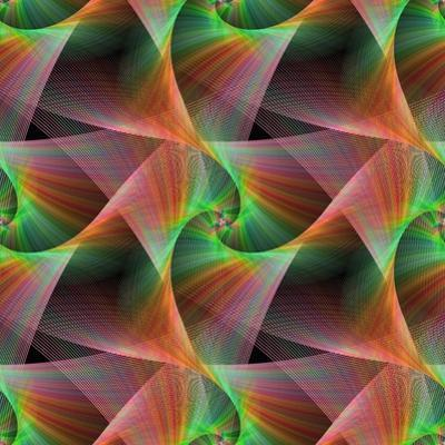 Seamless Color Fractal Veils Background by David Zydd