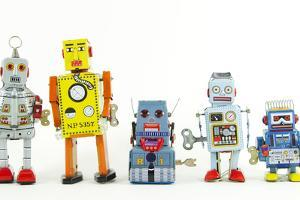 A Team of Robot Toys by davinci
